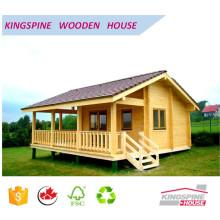 Holzblockhaus Vorgefertigtes Holzhaus mit Terrasse