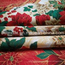 Navidad impreso Mini Matt, tela de tela impresa 100% poliéster Mini mate tejido impreso