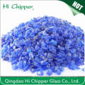 Покрытия из терраццо Сломанные кобальтовые синие стеклянные породы