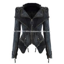 women vintage style cowboy fashion wear zipper jeans coat jacket for wholesale