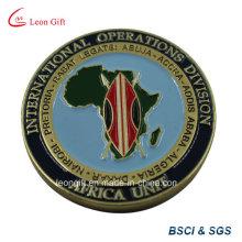 Mapa de África diseño metal conmemorar moneda con esmalte