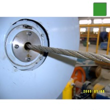 Metal wire rope swaging machine