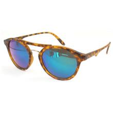 Cat Eye Leopard Печать Модные солнцезащитные очки с круглой линзой (14288)