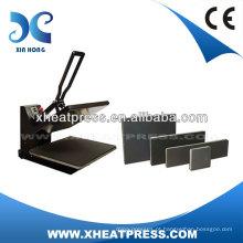CE Aprovado Clamshell costume tshirt logo dye máquina de transferência de calor máquina de imprensa de transferência