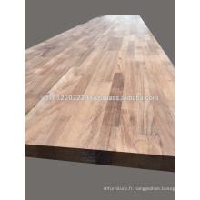 Thermo Rubber Wood Finger Joint Panneau laminé / panneau / plan de travail / comptoir / table top