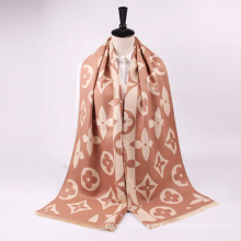 2021 Best Selling Autumn And Winter Fashion Luxury Design Wide Long Double Sided Cashmere Warm Shawl Scarf