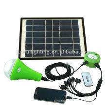 système d'éclairage solaire à la maison avec des ampoules led (nouveau produit)