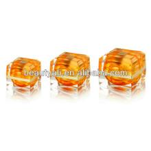 15ml 30ml 50ml Luxury Golden Square Acrylic Cosmetic Packaging Cream Jar