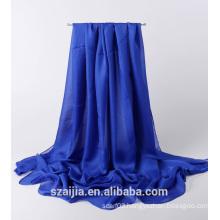 Ladies solid chiffon shawl