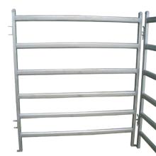 valla de riel de ganado de metal para animales