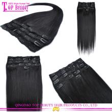 Fabricants en gros beau charme malaisienne cheveux 30 pouces extensions de cheveux clip dans