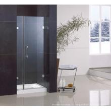Porte de douche pivotante en verre trempé RS-Il