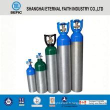 Cylindre de gaz en aluminium à haute pression de 3.2L (LWH120-3.2-15)