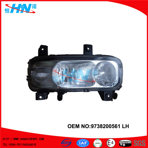 atego head lamp with fog lamp
