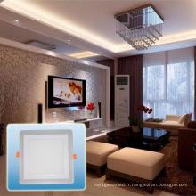 Lumière encastrée carrée de double de LED de lumen en aluminium