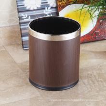 Нержавеющая сталь Раунд Открытый верхний мусорный ящик 10L (K-10LA)