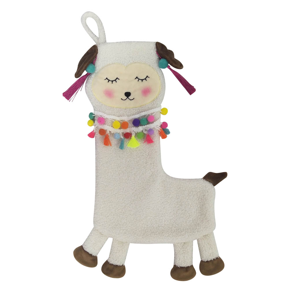 Llama 3d Christmas Stocking
