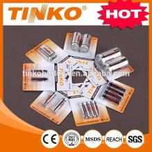 Carbone zinc batterie r20p avec une feuille d'Alu Jacket