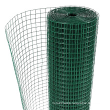 Mesh 13mm 25mm Green Plastic Coated Galvanized Welded Wire Mesh Fencing