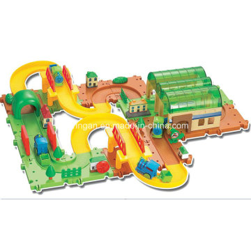 Track Toy Blocks Trains Set Toy