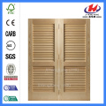 JHK-B07 Unfinished Full Louvered Doors Pas cher