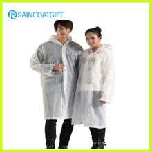 Poncho blanc 100% PVC transparent transparent (RVC-128)