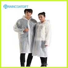 Прозрачный Белый 100% ПВХ дождь пончо (РВК-128)