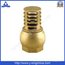 Válvula de pie de latón de rosca de alta calidad (YD-3004)