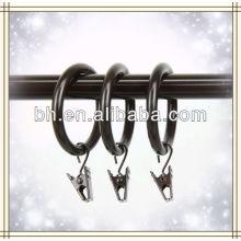 Heavy Duty 1.5 polegadas Cocoa cortina anéis com clipe