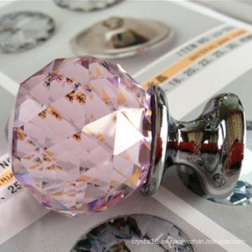Rosa cristal bola de cristal mango Empuje Jale las perillas por mayor