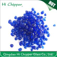 Granos de cristal decorativos de la piscina del azul de cobalto