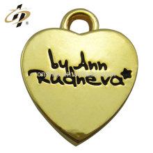 Vente chaude produits amour coeur métal personnalisé plaqué or charme et pendentif