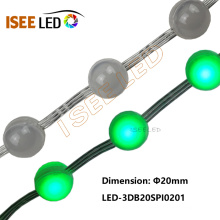Mini luz do grânulo da bola do diodo emissor de luz do diâmetro de 20MM