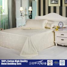 Ensembles de draps modernes 100% en bambou pur / linge de lit en gros de tissu de fibre de bambou, belle literie