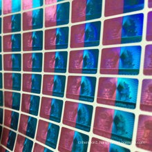 Double Color Printing Laser Hologram Security Sticker