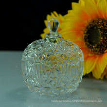 Hot Glass Candy Jar with Glass Lid