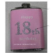 Amaozn heiße Verkäufe rosafarbene Farben-Damen 4oz Mini-Hüfte-Flasche
