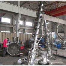 Misturador cônico de duplo parafuso de série DSH 2017, SS cone duplo secador, horizontal misturador de massa comercial