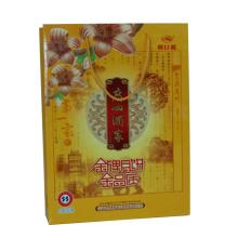 Бумажный мешок подарка с шелковой ширмы отделки на логотип