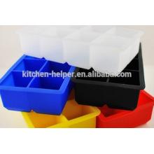 Bandeja de cubo de gelo do silicone quente dos moldes
