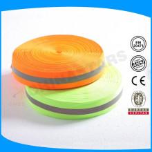 Couleur chaux / orange Recadrage réfléchissant avec du fer sur bande au milieu