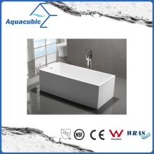 Bathroom Square Acrylic Free-Standing Bathtub (AB1508W)
