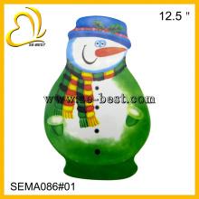 Placa de melamina de forma boneco de neve bonito, pratos de melamina, placa de melamina x-mas