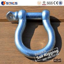 Manille européenne de ceinture d'acier au carbone d'arc de grand type