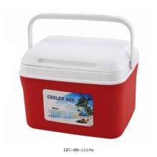 Refrigerador de plástico portátil de 4.5L, caixa do refrigerador de gelo, caixa plástica do refrigerador