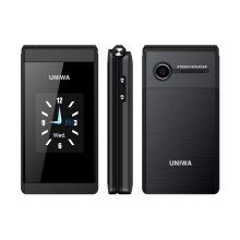 UNIWA X28 2.8/1.77 Inch Dual Screen Flip Phone SOS Button Big Font Flip Mobilephone Unlocked Cheap GSM Feature Cellphone