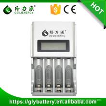 GEILIENERGY Carregador de Bateria / GLE-903 Display LCD Carregador Super Rápido Universal AA / AAA Carregador de Bateria NI-MH / NI-CD