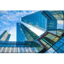 Rahmenlose lamellierte Glasvorhang-Wand für das Errichten
