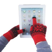Мужская мода Жаккардовые трикотажные зима теплая Сенсорный экран перчатки (YKY5461)
