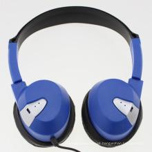 Auscultadores com fio com almofada de ouvido macio para uso de aviação